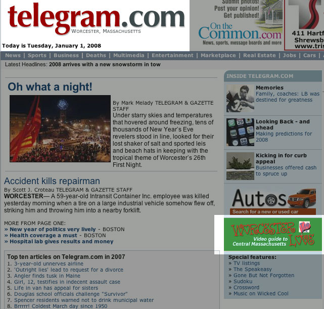 Worcester Telegram and Gazette debuts the Worcester Love icon on the homepage