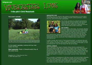 Telegram.com picture of the Worcester Love page with information about the show and hosts Kaz Gamble and Andrea Ajemian